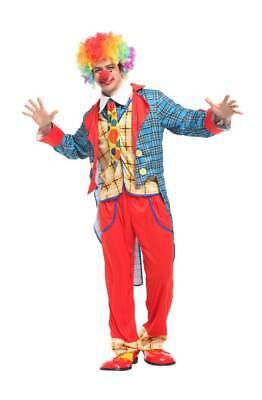 Erwachsene Herren Lustig Smoking Clown Joker Hofnarr It Pantomime - Lustige Joker Kostüm