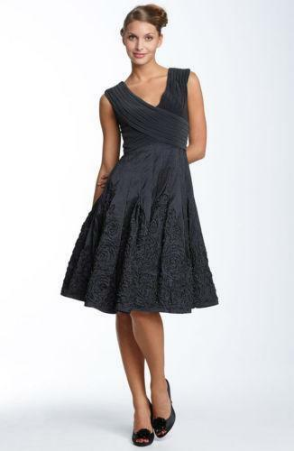 Adrianna Papell Matte Jersey Amp Taffeta Dress Ebay