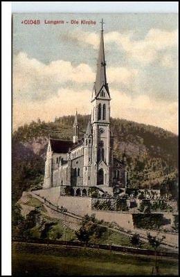 LUNGERN Obwalden Schweiz AK ~1910/20 Partie ad. Kirche  alte Postkarte Suisse