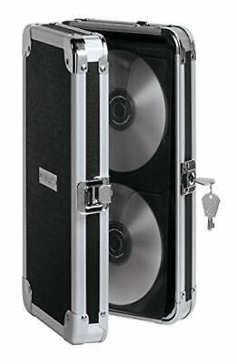 Locking Cd Dvd Wallet Case Holder Key Lock Box Storage Portable 48 Cd Capacity
