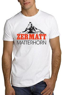 Zermatt Matterhorn T Shirt Swiss Alps Skiing Switzerland All Sizes &