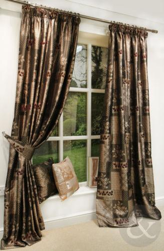 brown gold curtains ebay. Black Bedroom Furniture Sets. Home Design Ideas