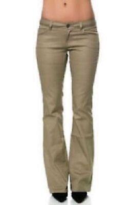 Dickies Girl Khaki Classic 5 Pocket Pant HH160 Low Rise - Boot Cut - Stretch