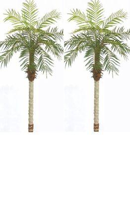 - 2 Artificial 5ft Phoenix Palm Tree Arrangement Plant Bush Silk Date Areca ivy