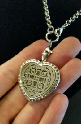 Heart Celtic Cross Rhinestone Essential Oil Diffusing -