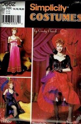 Simp 9899/5435 Saloon Girl Costumes Pattern Sz 6-12