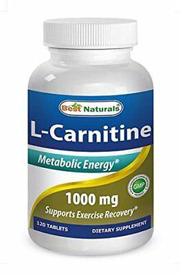 Best Naturals L-Carnitine Double Potency Tablets, 1000 mg, 120