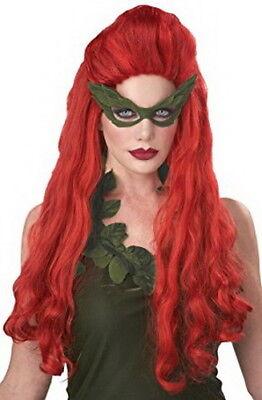 Poison Beauty Wig Long Red Wavy Synthetic Hair Comic Book Villain Character   - Comic Book Women Villains