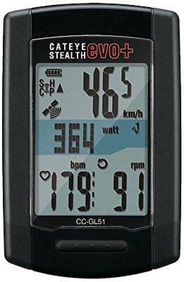 CatEye Stealth Evo Plus CC-GL51 Bike Computer (ANT+ sensor sold separately) -NEW