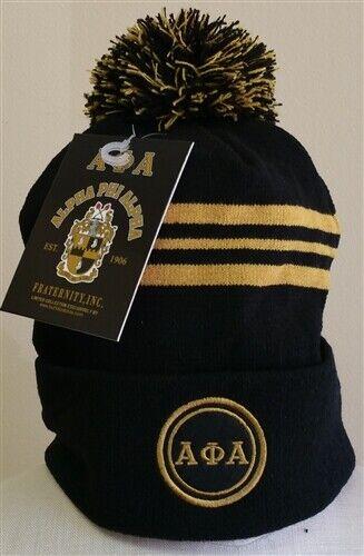 Alpha Phi Alpha Fraternity Beanie- Three Greek Letters-New!