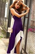 Purple Empire Waist Dress