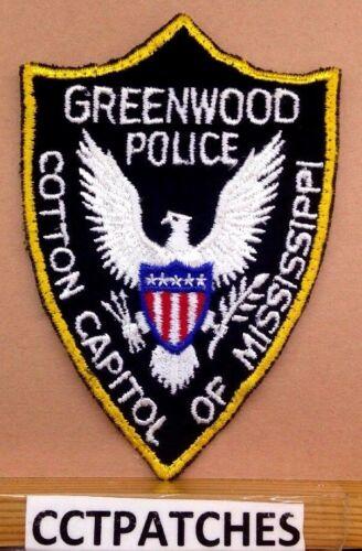 VINTAGE GREENWOOD, MISSISSIPPI POLICE SHOULDER PATCH MS