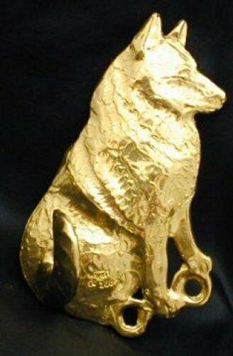 NORWEGIAN ELKHOUND Hook in Bronze