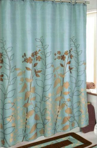 Contemporary shower curtain teal image bathroom with bathtub ideas blue shower curtain ebay gumiabroncs Images