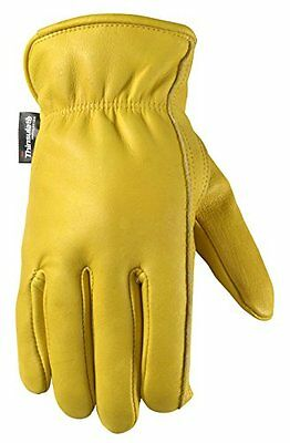 Wells Lamont 1108l Insulated Grain Cowhide Leather Work Gloves Large New Free