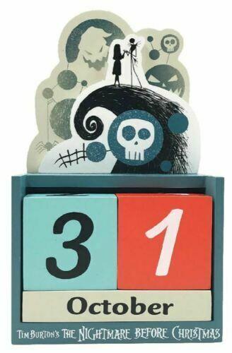 Disney The Nightmare Before Christmas Perpetual Wooden Block Calendar Jack Sally