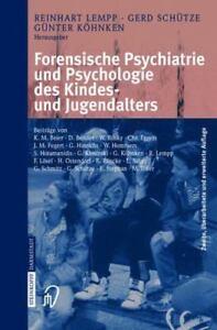 Forensische Psychiatrie Und Psychologie Des Kindes- Und Jugendalters (german ...
