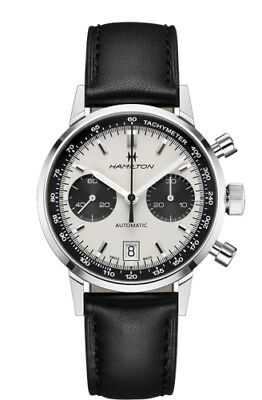 NEW HAMILTON INTRA-MATIC 68 AUTOMATIC CHRONOGRAPH PANDA DIAL H38416711 40MM
