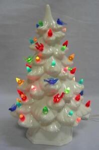 ceramic christmas tree mold - White Ceramic Christmas Tree