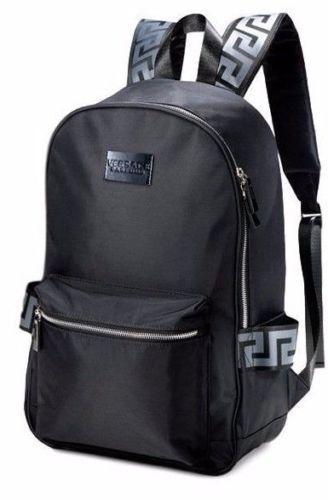 Details About Brand New 100 Genuine Versace Black Backpack Rucksack Gym Weekend Travel Bag