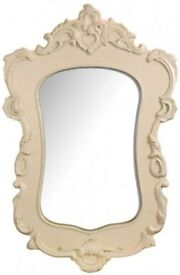 FRENCH STYLE ORNATE FANCY WALL MIRROR