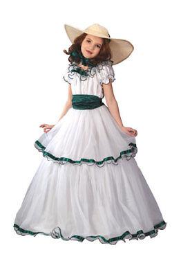 Southern Belle Kids Costume (Kids Southern Belle Dress Classy Halloween)