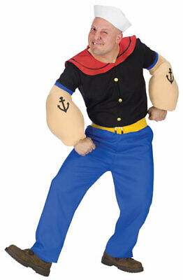Popeye The Sailor Man Adult Mens Halloween Costume](Sailor Halloween Costume Man)