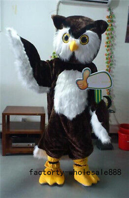 Disney Halloween Party Games (Halloween Big Brown Owl Mascot Costume suits Cosplay Party Game Adult Size)