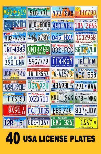 Usa License Plate Ebay