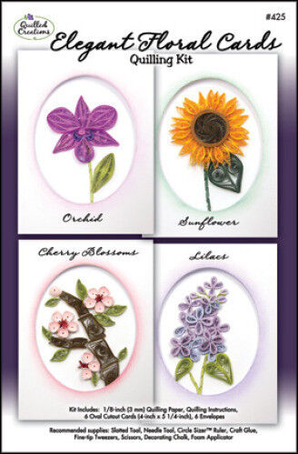ELEGANT FLORAL CARDS QUILLING KIT-Quilled Paper Craft-Cardmaking/Card Making