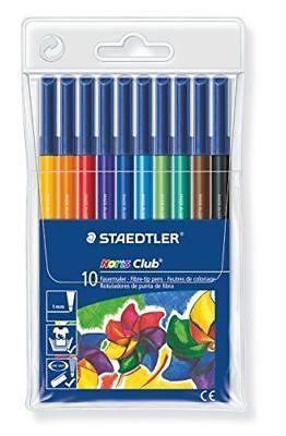 10 Pack Staedtler Noris Club Fiber Tip Pens 1.0 Point 326 Wp10 Germany