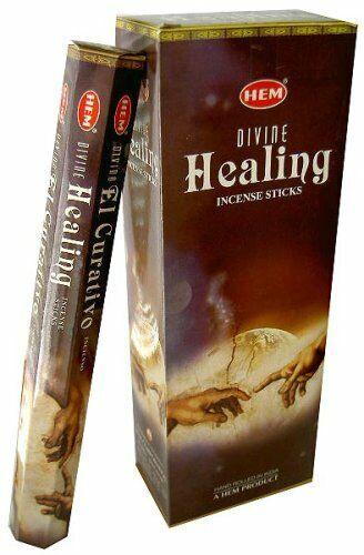 Hem Divine Healing Incense Sticks Hex Tubes (Retail Box - 120 Sticks)