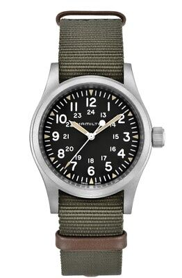 NEW HAMILTON KHAKI FIELD MECHANICAL 38MM GREEN N.A.T.O STRAP H69429931