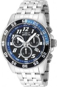 Invicta M Pro Diver Stainless Steel Chronograph Black Dial Watch