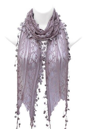 NEW! Lace Scarf, Purple - Amazing Gift For Her! Issy