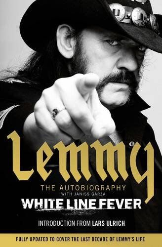 White Line Fever: Lemmy: The Autobiography New Paperback Book Lemmy Kilmister