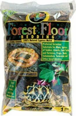 Zoo Med Natural Cypress Mulch Forest Floor Bedding For Snakes Amphibians 8 (Cypress Mulch)
