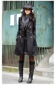 Women Double Breasted Long Trench Coat