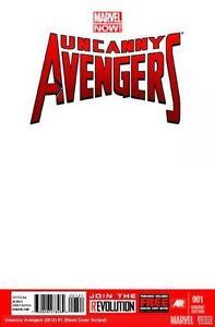 UNCANNY-AVENGERS-1-RARE-BLANK-COVER-VARIANT-NM-X-MEN-AVX-MARVEL-WOLVERINE-THOR