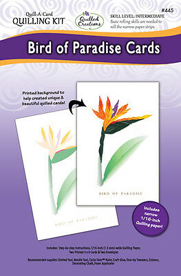 BIRD OF PARADISE CARDS-Quill-A-Card Kit-Quilling/Quilled Paper Flower Craft-3D, used for sale  Shipping to Canada