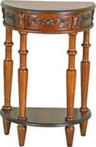 half moon accent table ebay. Black Bedroom Furniture Sets. Home Design Ideas