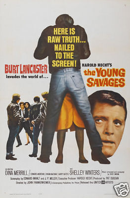 The Young savages Burt Lancaster vintage movie poster