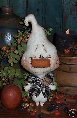 Patti's Ratties Primitive Ghost Boo Halloween Ornie Doll Paper Pattern #501