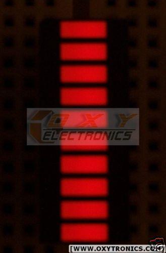 2 pcs x 10-Segments LED GAALAS BARGRAPH Array [Super Bright RED] - USA