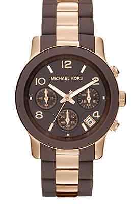 Michael Kors Women MK5658 Chronograph Rose Gold Stainless Steel & Silicone Watch