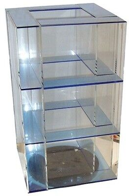 13.5 4 Panel Clear Acrylic Spinning Counter Top Display Shelf Spinner Display