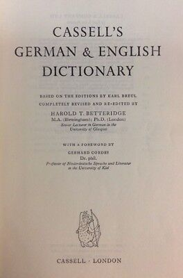 Cassells New German Dictionary  1958  Hardback  Preownedbook Com