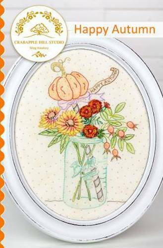 10% Off Crab-Apple Hill Embroidery Pattern - Happy Autumn