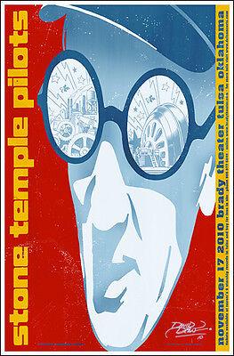 STONE TEMPLE PILOTS 2010 Tulsa Brady Theater Original Signed Concert Poster