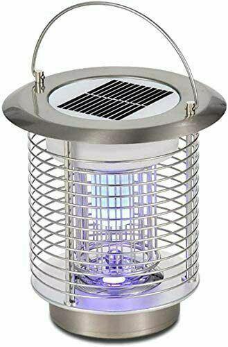 Solar Powered Mosquito Killer Lamp 1.2W LED Bug Zapper Lantern - Refurbished